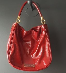 Red Patent Leather Marc Jacobs Shoulder Bag